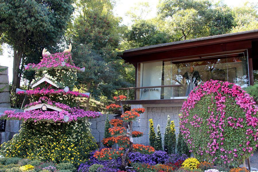 昨年度の意匠花壇・明石城
